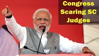 Congress scares SC judges with impeachment to delay Ayodhya case hearing: PM Modi