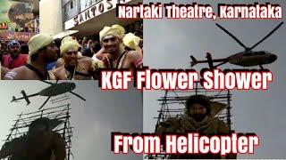 #KGF Flower Shower And Public Celebration In Nartaki Theatre Karnataka