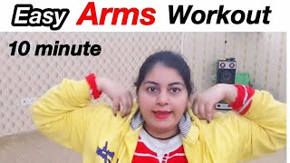 10 Min Arms Workout at Home | How to Lose Arm Fat Fast | JSuper Kaur