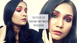 Easy Christmas/Party Glowy  Makeup for Beginners | Nidhi Katiyar