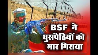 BSF ने भारत-पाक सीमा पर घुसपैठ कर रहे एक शख्स को मार गिराया