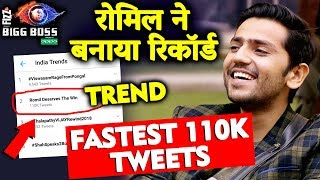 Romil Choudhary Creates Biggest Record In Bigg Boss 12 | Fastest 110k Tweets
