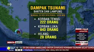 Data Terbaru: 222 Orang Tewas Akibat Tsunami Selat Sunda