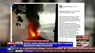 Penampakan Erupsi Anak Gunung Krakatau