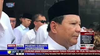 Turut Berduka, Prabowo Berharap Tak Ada Tsunami Susulan