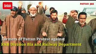 National Farmers Day:  Farmers of Pattan Protest against R&B Division Bla and Railway Deptt.