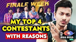 My TOP 4 Contestants Of Bigg Boss 12 With Reasons | Charcha With Rahul Bhoj