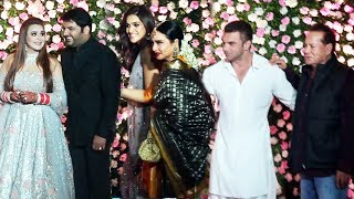 Kapil Sharma & Ginni Chatrath Grand Wedding Reception   Salim Khan, Sohail, Kriti Sanon, Anil Kapoor