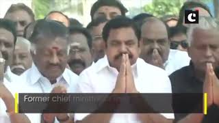 TN CM, Deputy CM, AIADMK leaders pay floral tribute to party founder MGR on his death anniversary