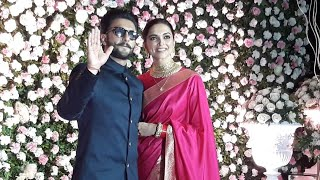 Power Couple Ranveer Singh & Deepika Padukone At Kapil Sharma & Ginni Reception Mumbai