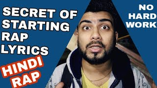 Watch SECRET OF STARTING RAP | NO HARD WORK | HINDI RAP     (video id -  3718949e7436c0) video - Veblr Mobile