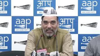 AAP Delhi Convenor Gopal Rai Briefs on Amit Shah Meet With BJP & Cong Youth Attacked AAP Offc