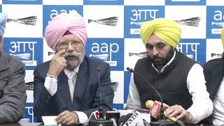 AAP Punjab Convenor & Punjab Assembly LOP Addressed Media