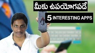Must try 5 Interesting apps Telugu