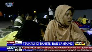 Trauma, Korban Tsunami di Lampung Selatan Bertahan di Pos Pengungsian