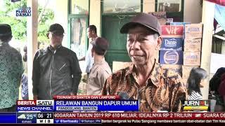 Relawan Bangun Dapur Umum Bagi Korban Tsunami Banten dan Lampung