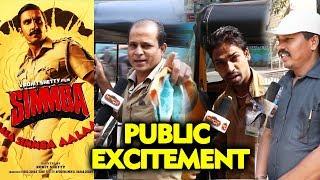 Simmba | PUblic Excitement | Aalaa Re Aalaa Simmba Aalaa | Ranveer Singh, Sara Ali Khan