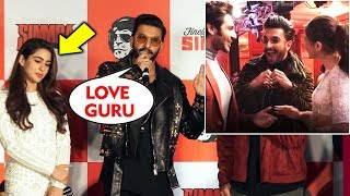 Sara Ali Khan Blush When Talking About Kartik | LOVE GURU Ranveer Singh Funny Reaction On Sara