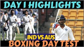 India Vs Australia 3rd Test,Day1 Highlights:India(215/2), Virat & Pujara stand strong