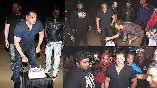 Salman Khan CUTS Birthday CAKE With Media At PANVEL Farm House | 53rd Birthday Celebration