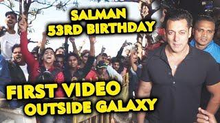 Huge Crowd Outside Salman Khans Galaxy Apartment Waiting For Bhai   53rd Birthday