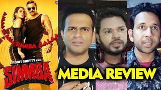 SIMMBA Media Review | First Show | Ranveer Singh Sara Ali Khan | Public Review