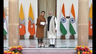 PM Shri Narendra Modi with Bhutanese Prime Minister Lotay Tshering at a Joint Press Meet