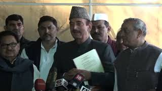 Ghulam Nabi Azad, PL Punia and Sanjay Singh addresses media on law and order situation in UP