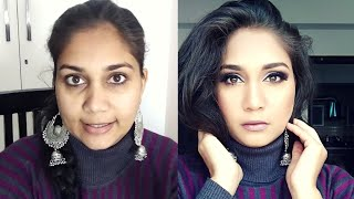 Easy Glam & Glowy New Year Party Makeup step by step in Hindi for beginners | Nidhi Katiyar