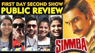 SIMMBA PUBLIC REVIEW | First Day Second Show | Ranveer Singh, Sara Ali Khan, Ajay Devgn