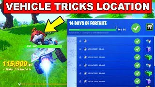 Day 10 REWARD - Land Tricks in Vehicle at Different named Locations - 14 Days of Fortnite Challenge