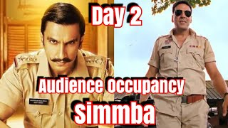 #Simmba Movie Audience Occupancy Day 2 Morning Shows