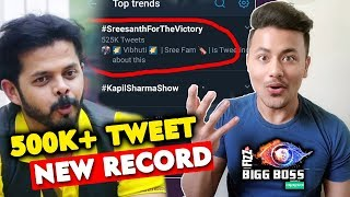 Sreesanth Creates NEW RECORD Before Bigg Boss 12 Grand Finale | Half Million Tweets
