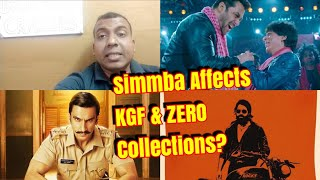 Simmba Affects ZERO And KGF Collection On 2nd Weekend l Will KGF Bounce Back?