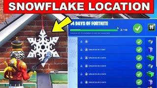 Day 12 REWARD - Destroy Snowflake Decorations  - 14 Days of Fortnite Challenges for FREE Rewards