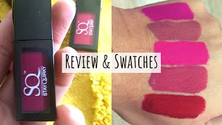 Best affordable liquid lipsticks? Stay Quirky Liquid lipstick | Review & Swatches