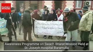Awareness Programme on Swach Bharat Mission Held at St. Joseph Hospital Baramulla