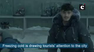 Tourists throng Shimla to enjoy ice skating rink