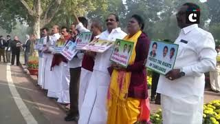 AIADMK continues protest against construction of dam across Cauvery River