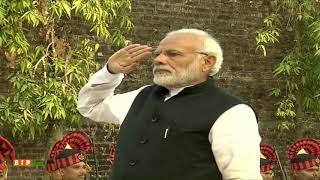 PM Narendra Modi visits Cellular Jail, pays respect to Veer Savarkar