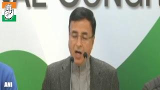 Randeep Singh Surjewala addresses a press conference in response to PM Modi's interview to ANI