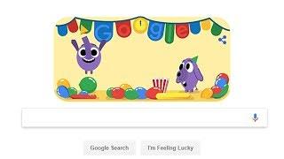 Google doodle's baby elephants welcome 2019