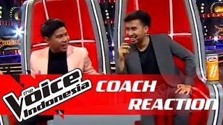 GEMES! Ini Reaksi Coach Vidi dan Nino | COACH REACTION | The Voice Indonesia GTV 2018