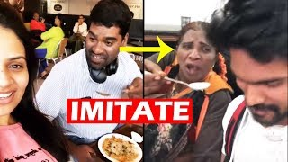 Bithiri Sathi Imitating Lokulu Kakulu Aunty | Sreemukhi | Bithiri Sathi Comedy | Top Telugu Tv