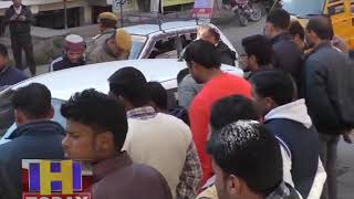 CAR ACCIDENT AT HAMIRPUR MAIN ROAD