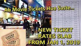 NEW Movie Ticket Slabs Prices In INDIA From January 1 2019 I Detailed Report I Ab Ticket Hua Sasta