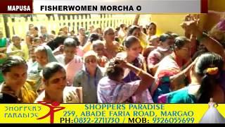 Mapusa Fisherwomen Take Morcha On Municipality
