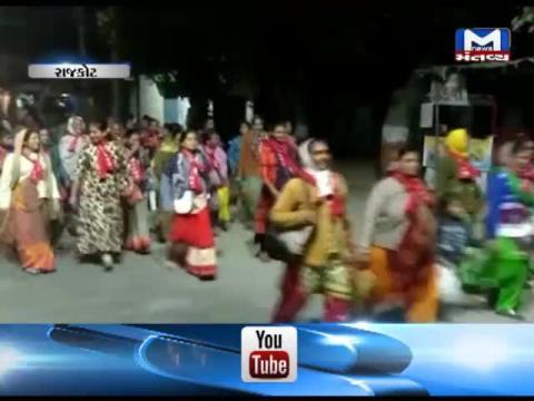 Rajkot: Civil Supplies Minister Jayesh Radadiya's pad yatra of Khodaldham