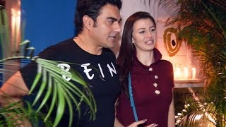 Arbaaz Khan & His Girlfriend Georgia Andriani Spotted Bandra Restaurant