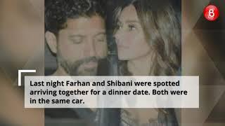 Farhan Akhtar and Shibani Dandekar Spotted On a Dinner Date
